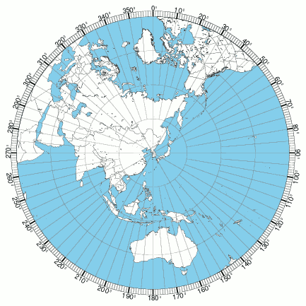 Mapa azimutal de Seúl