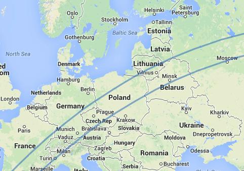 ruta España-Corea